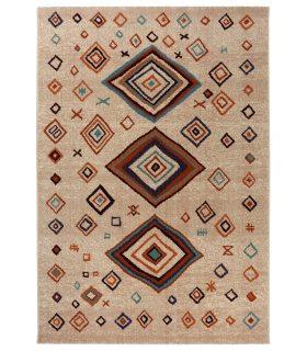Bali 796 Alfombra de lana de estilo étnico bereber.
