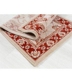 Alfombra de lana Byzan 546. Color Beig. 60x120 cm.