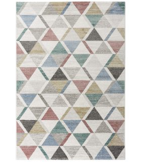 Alfombra geométrica dibujo triángulos Madison 34010 Multicolor