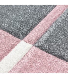 Alfombra estilo geométrico Tallin 1310. Color Rosa.