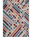 Alfombra geométrica de colores neutros Corfu 900