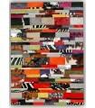 Alfombra Piel Patchwork Multy Stripes