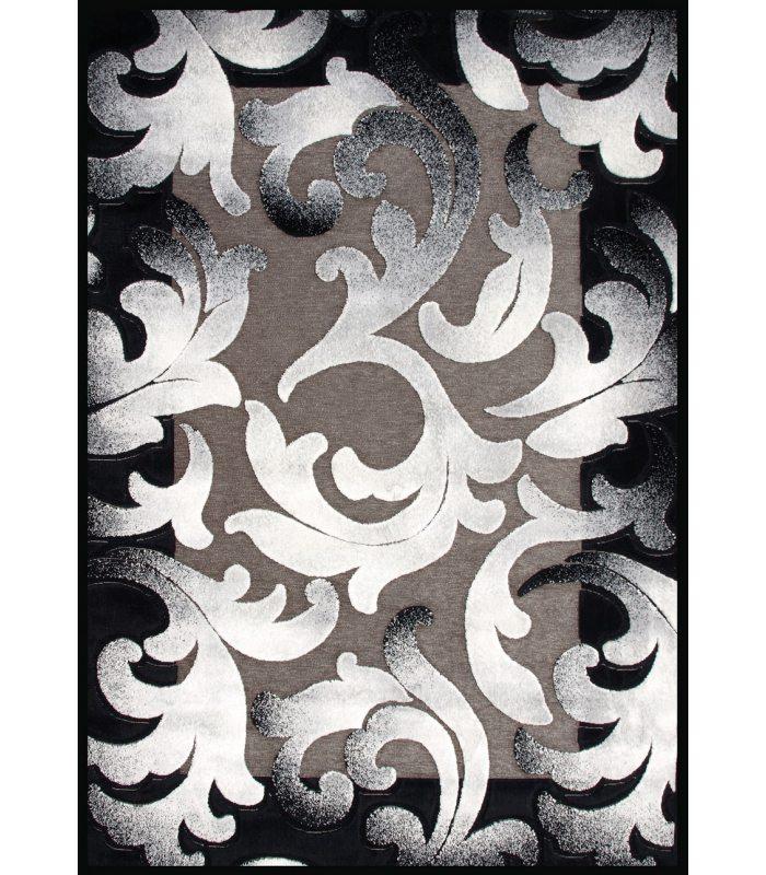 Alfombra de chenilla y viscosa. Modelo Kris KR-9. Color Negro.