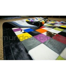 Patchwork Multy Colores. Cenefa Negra.