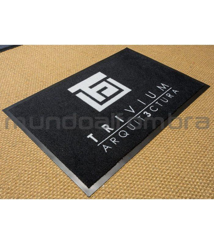 Felpudo Logo Est. Ejemplos de 60x90 y 90x150 cm.