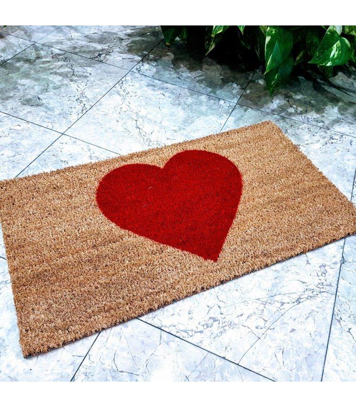 Felpudo Corazón. Tamaño 33x60 cm.