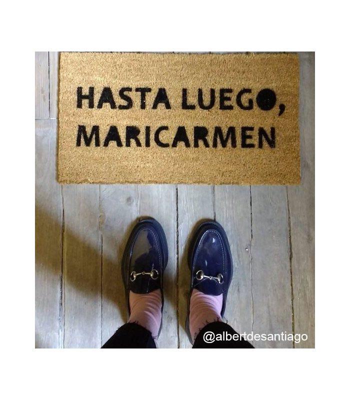 Felpudo HastaluegoMariCarmen. Tamaño 33x60 cm