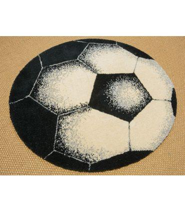 Balón de Futbol. Alfombra Lana Virgen.