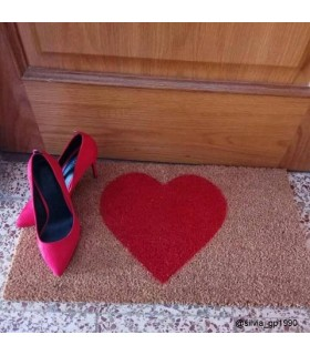 Felpudo Corazón. Foto cliente