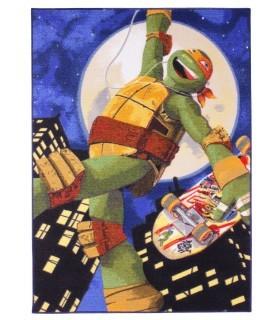 Alfombra Tortugas Ninja Michelangelo.