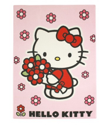 Alfombra Hello Kitty Flores