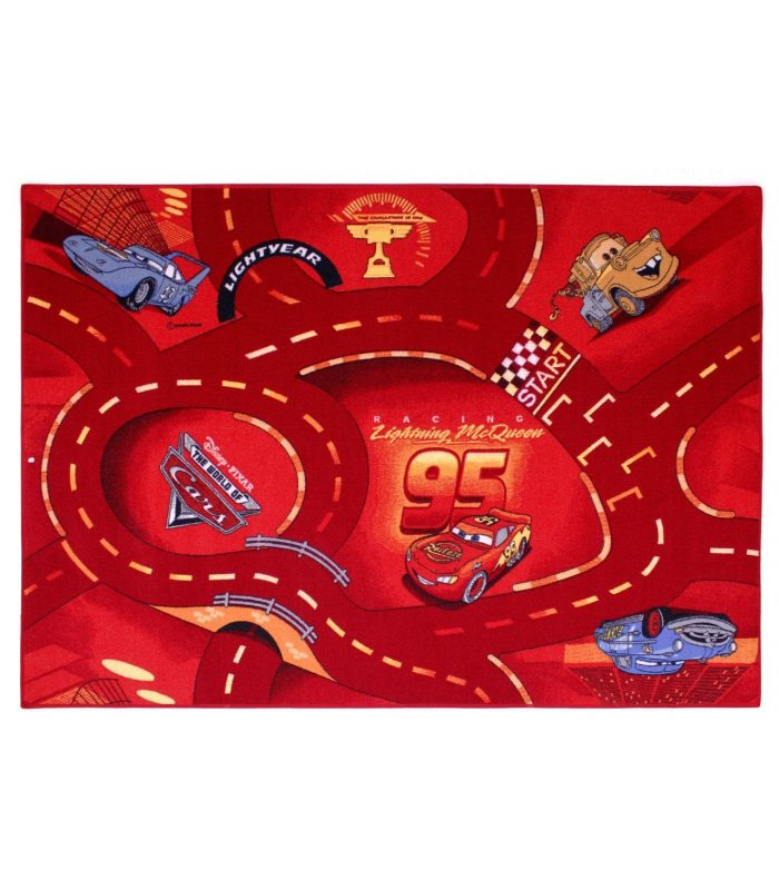 Alfombra Cars 10 Disney. Color Rojo.