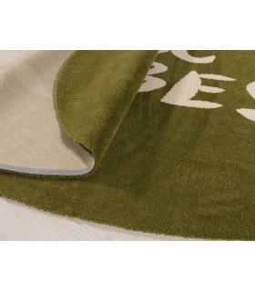 Alfombra de Lana a Medida. Custom Wool. Diseños Personalizados. Forma Ovalada.