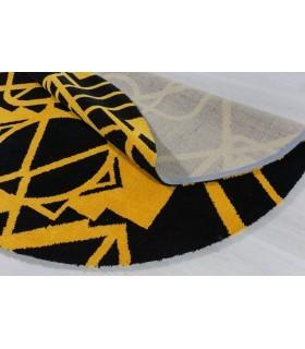 Alfombra de Lana a Medida. Custom Wool. Diseños Personalizados. Forma Redonda.