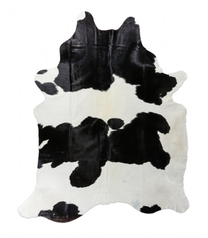 Alfombra Piel de Vaca Blanco y Negro. 204x240.