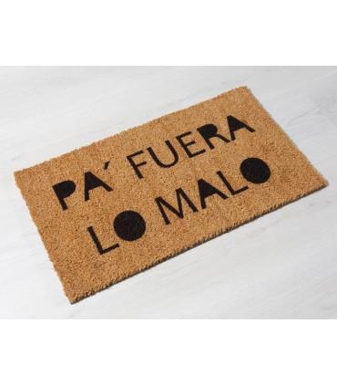 Felpudo de coco Pa Fuera Lo Malo. Tamaño 33x60 cm.