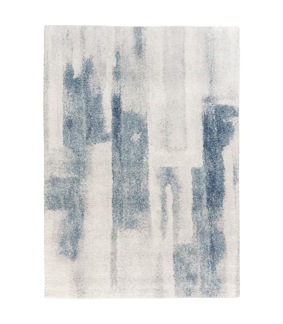 Alfombra moderna estilo arty en tonos azules y grises Clara 59