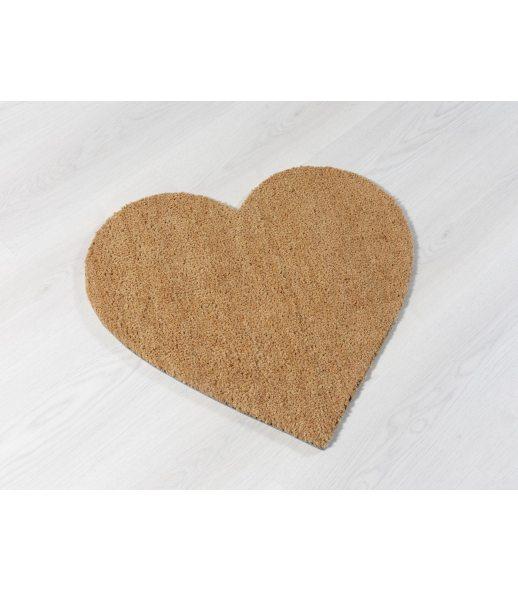Felpudo Forma Corazón. Tamaño 58x53 cm.