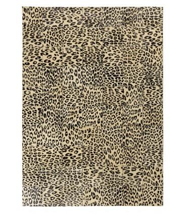Alfombra Leopardo Patchwork. Cuadros 20x20 cm.