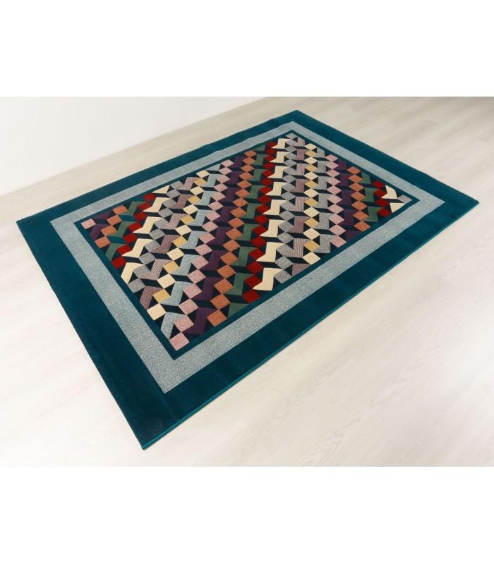 Geometrics Azul. Alfombra de lana Outlet 170x240.