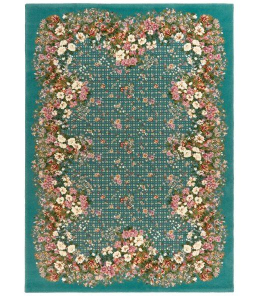 Versalles Turquesa. Alfombra de lana Outlet 170x240.