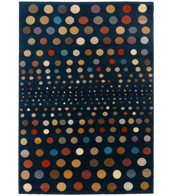 Circles Azul. Alfombra de lana 170x240.