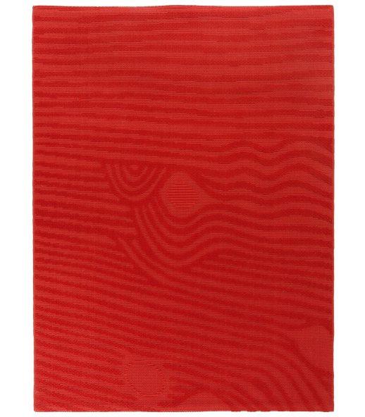 Waves Rojo. Alfombra de lana Outlet 175x235.