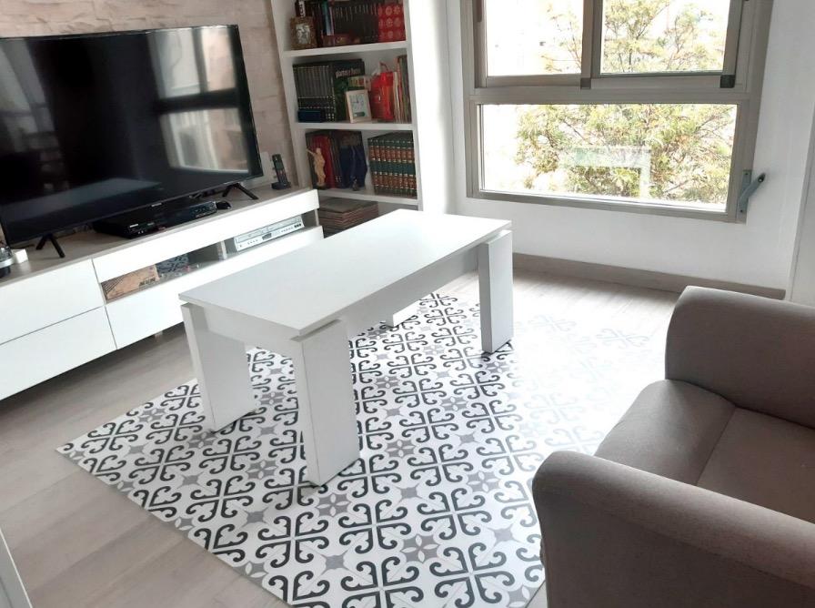 Nuestra alfombra de vinilo BALDOSAS HIDRAULICS 0288  a medida. Foto de cliente.