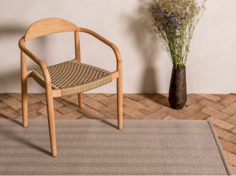 Alfombra exterior-interior fibra reciclada cuerdas Maya Weave