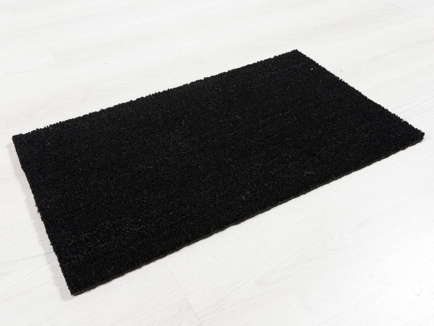 Felpudo de Coco - 17 mm - Color Negro - 40x70 cm.